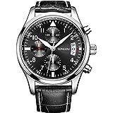 SONGDU Men's Fashion Business Quartz Watch Chronograph Waterproof Date Display Analog Sport Wrist Watches