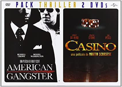 Pack: American Gangster + Casino [DVD]: Amazon.es: Denzel Washington, Russell Crowe, Carla Gugino, Robert De Niro, Sharon Stone, Joe Pesci, James Woods, Ridley Scott, Martin Scorsese, Denzel Washington, Russell Crowe, Varios: Cine