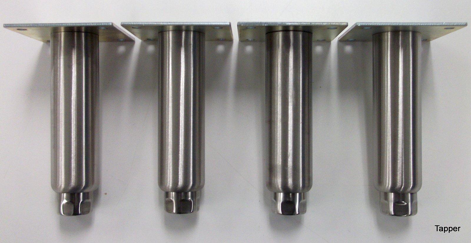 Kason 6'' Stainless Steel Adjustable Leg Leveler set of 4 legs NSF