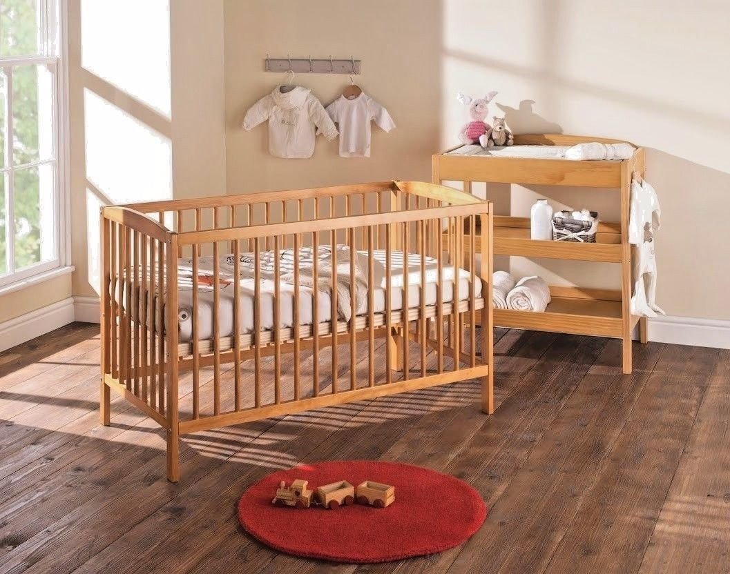 Baby Cot Bed with Deluxe Mattress (Country Pine) B4Beds©