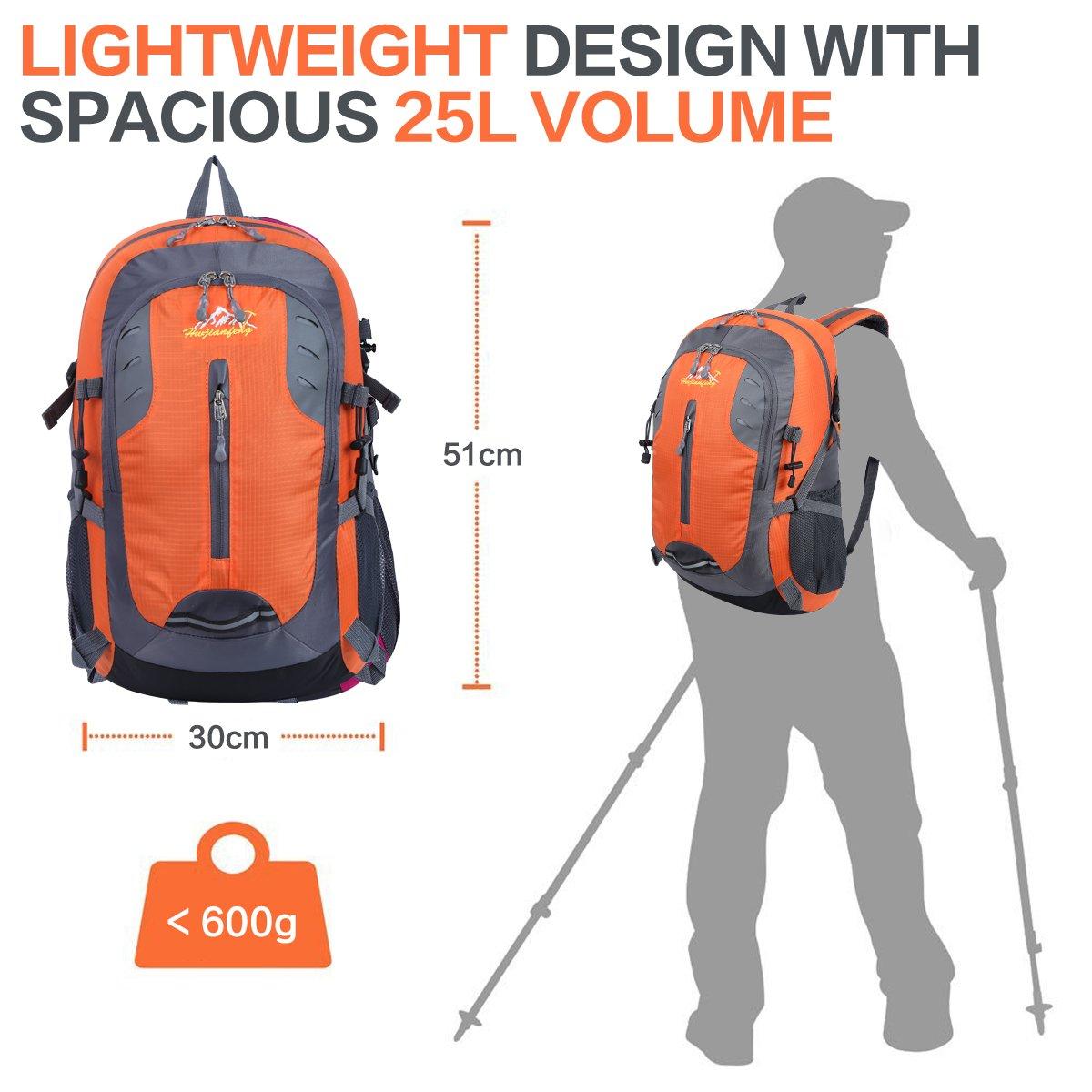 HWJIANFENG 30L Mochilas de Senderismo para Montaña de Acampadas de Nylon Mochilas de Excursion para Viajes Unisex de Ciclismo color Naranja: Amazon.es: ...