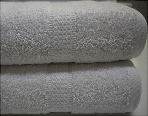 Blanco toalla de algodón egipcio 100 x 150 cm 600 gsm beytug ...