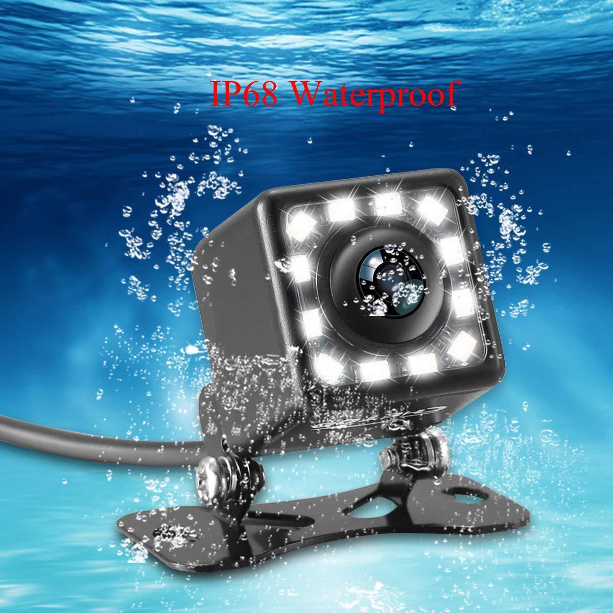 aSATAH 8 LED Car Rear View Camera for KIA VQ//Carnival//Sedona//Grand Carnival//Sedona//Carnival R /& HD CCD Night Vision Waterproof and Shockproof Reversing Backup Camera 8 LED
