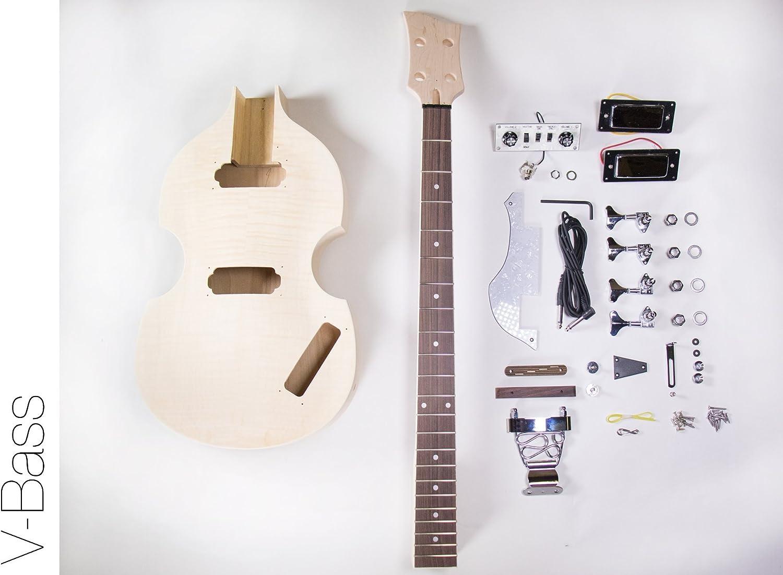Amazon.com: The FretWire DIY Electric Bass Guitar Kit - Violin Bass Build  Your Own: Musical InstrumentsAmazon.com