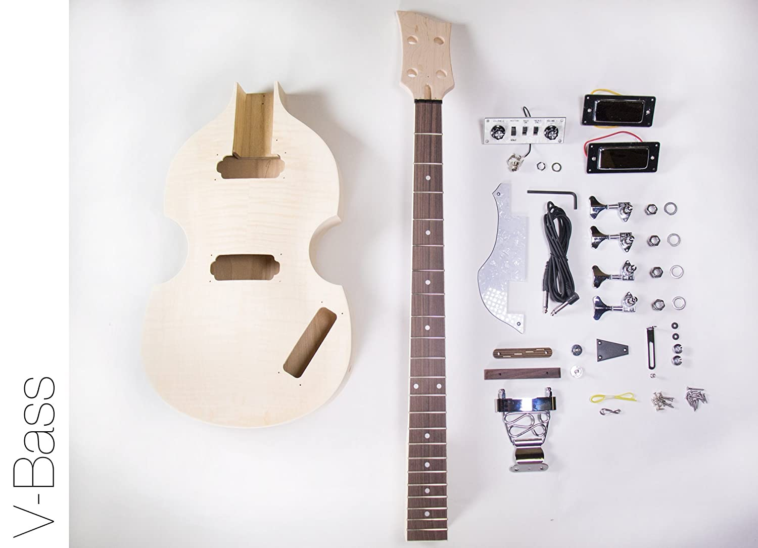 Amazon.com: DIY Electric Bass Guitar Kit - Violin Bass Build Your Own:  Musical Instruments