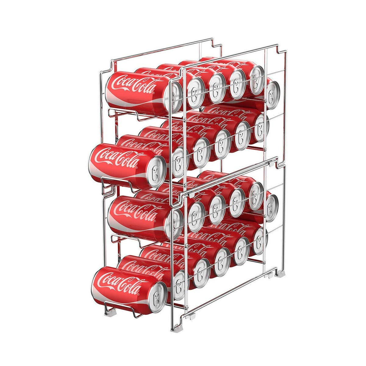 2-Pck Soda Can Rack Organizer Stackable Beverage Dispenser Rack Hold 24 Cans, Quick Delivery by $/Reliable