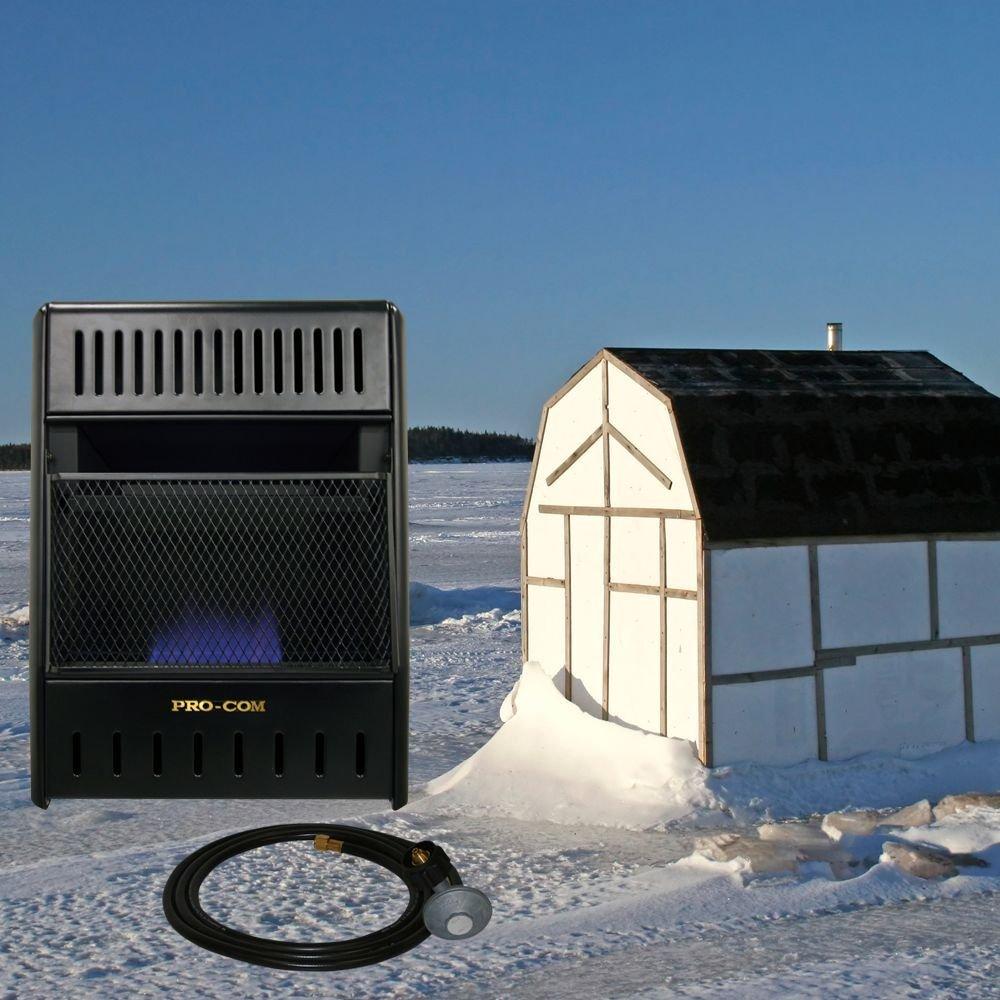 ProCom Vent-Free Propane Ice House Heater -10,000 BTU, 300 Sq. Ft. Heat. by ProCom