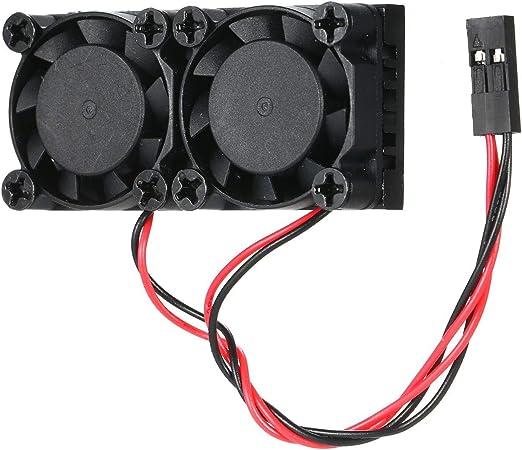 DIY universal Frambuesa Pi de refrigeración de doble ventilador DC ...