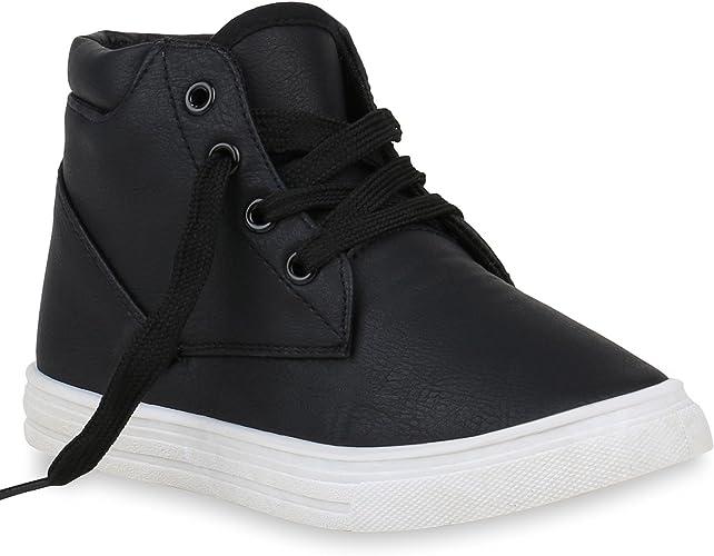 Stiefelparadies Unisex Damen Herren Kinder Sneaker high Flandell