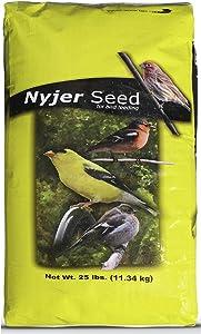EasyGo Product Nyjer Seeds – Premium High Energy Wild Bird Thistle Food – Finches – Garden Backyard Birds – Great for Bird Feeders – 25 Pounds