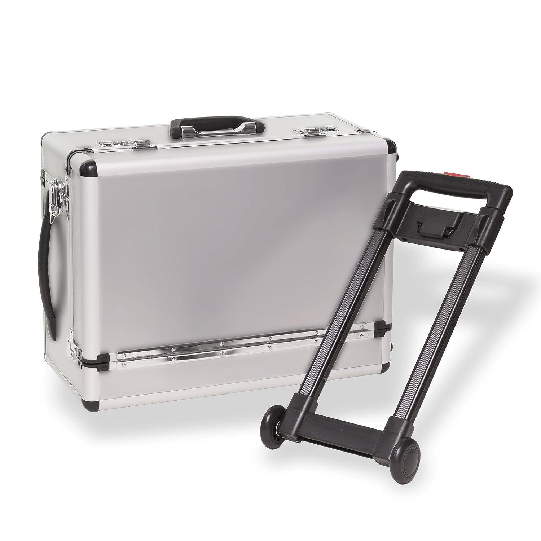 """Trolley Alu-Koffer """"Silver Stripe"""" / Pilotenkoffer Hergestellt für DEMA"""