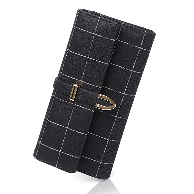 c1c75a4f2db4 APHISON Women's Soft Leather Long Wallet Lady Credit Card Clutch Purse/Gift  Box 12315