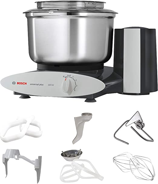 Bosch Universal Plus Stand Mixer - Black - Baker\'s Package with Additional  Baking Attachments and Stainless Steel Bowl