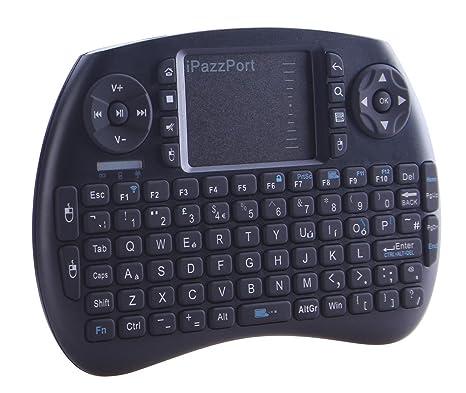 iPazzPort KP-810-21S - Mini Teclado inalámbrico con ratón (800 mAh)