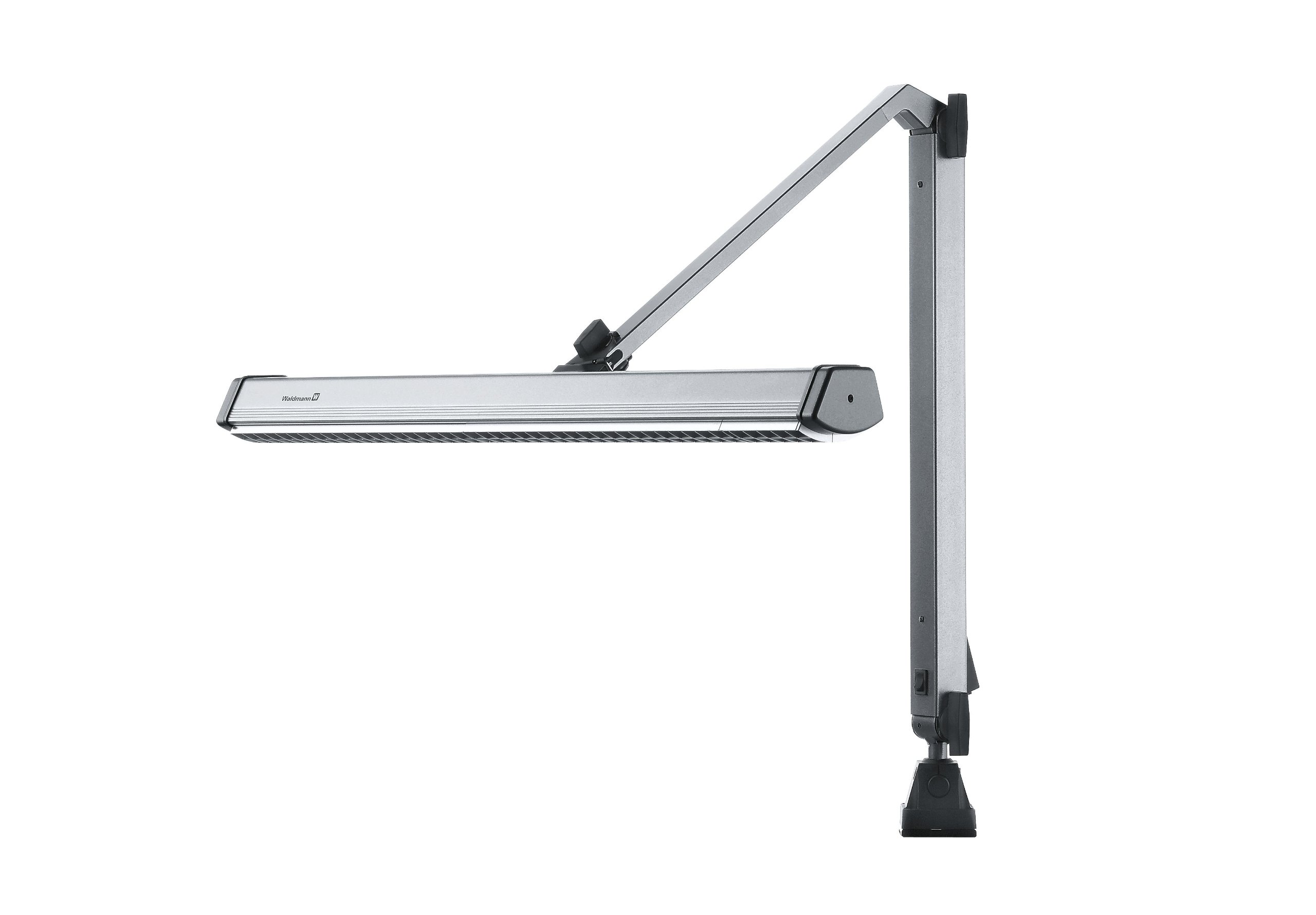 Universal Industrial Task Light, Center Arm, Aluminum Steel, Light Gray, 36'' Reach, 1 x 55W CFL Lamping, 120V Voltage