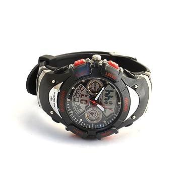 Pasnew #308A - Reloj deportivo (esfera dual analógica y digital, retroiluminado, resistente
