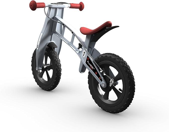 FirstBIKE - Bicicleta de Equilibrio con Freno, Modelo Cross, Color Plata (L2002): Amazon.es: Juguetes y juegos