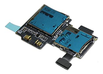Ilovemyphone Repuesto Flex Lector Tarjeta Sim y Micro SD para Samsung Galaxy S4 I9500 I9505