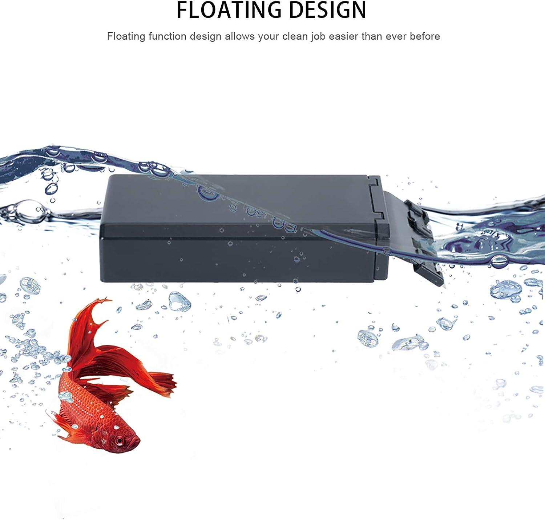Genrics Seven Master Aquarium Woody Magnetic Scraper Tool Floating Glass Scraper for Fish Tank