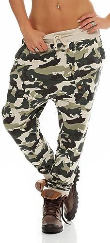 malito Urban Camouflage Boyfriend Pantalón Sweatpants Fitness Harem Aladin Bombacho Sudadera Baggy Yoga 3307 Mujer Talla Única