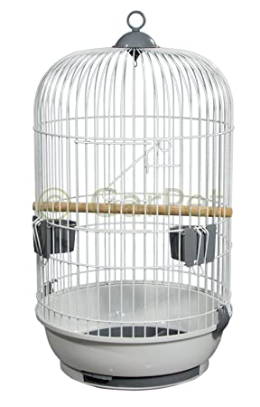Pájaro jaula Completo jaula loro Papagayo pájaro Bauer redondo ...