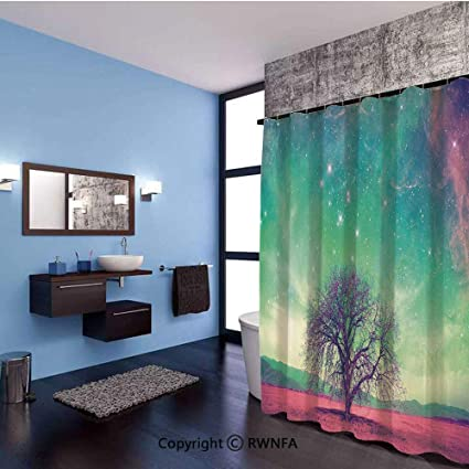 . Amazon com  Hotel Quality Waterproof Fabric Shower Curtain Red Alien