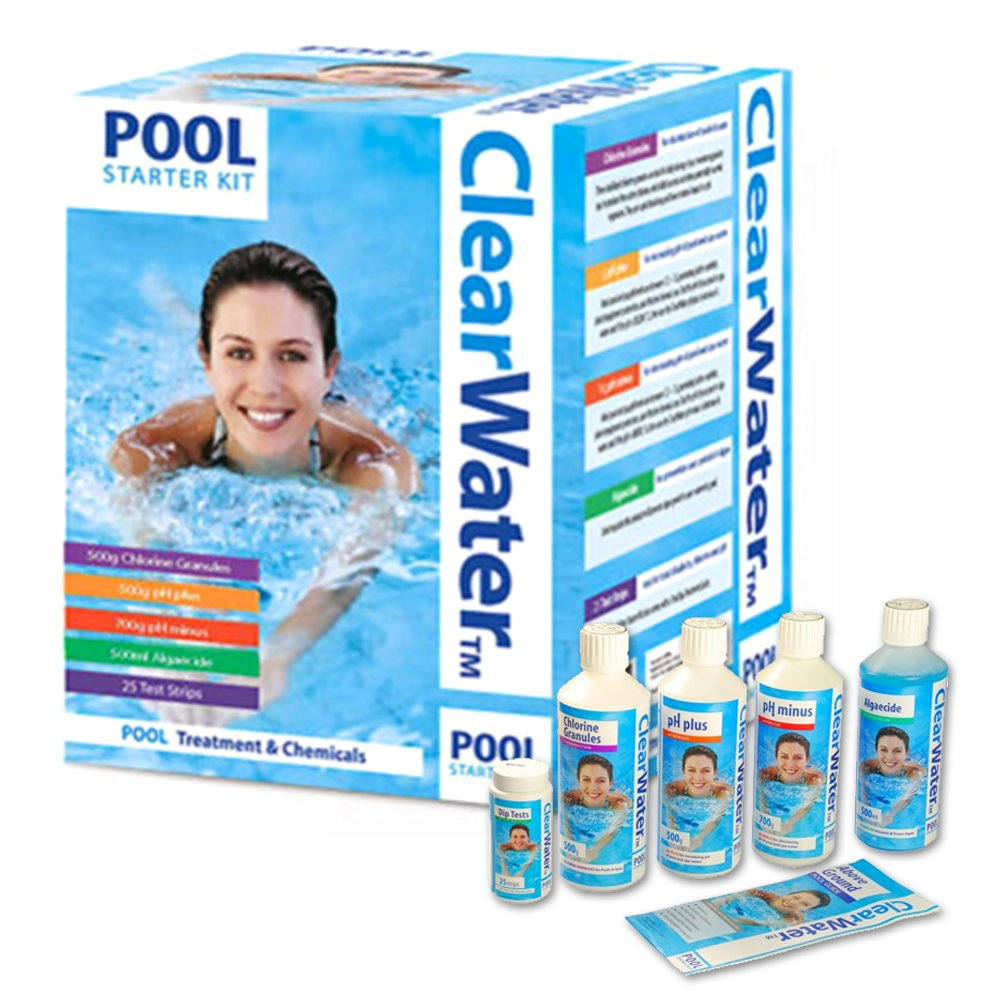 Crystals Lay-Z-Spa Water Cleaning Multi-Function Chemical Chlorine Granules, Algaecide, Start Kit Liquids & Tablets for Swimming Pool, Hot Tub and Spa Treatment (1ltr Scale Stain Remover)