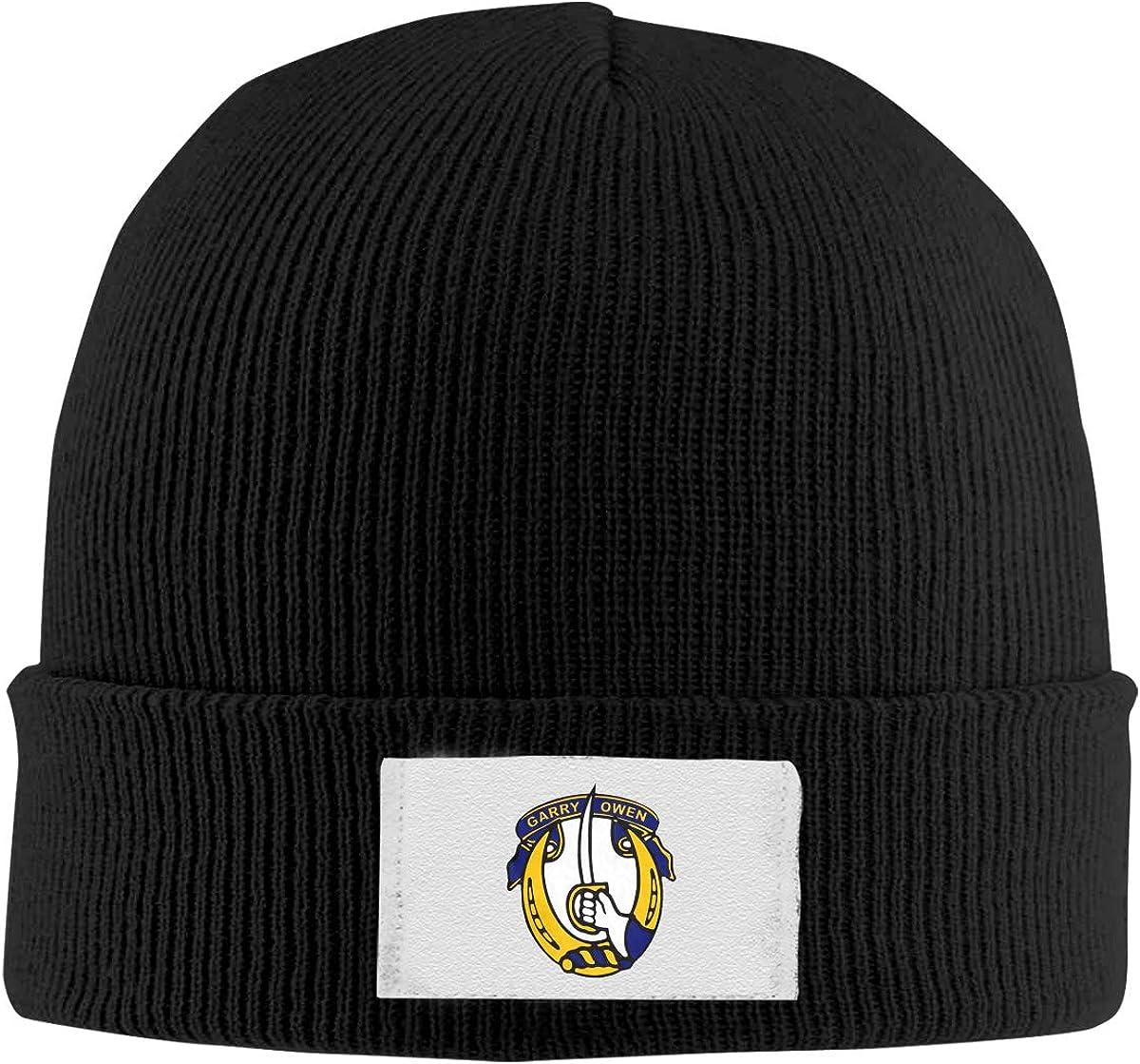 7th Cavalry Top Level Beanie Men Women Unisex Stylish Slouch Beanie Hats Black