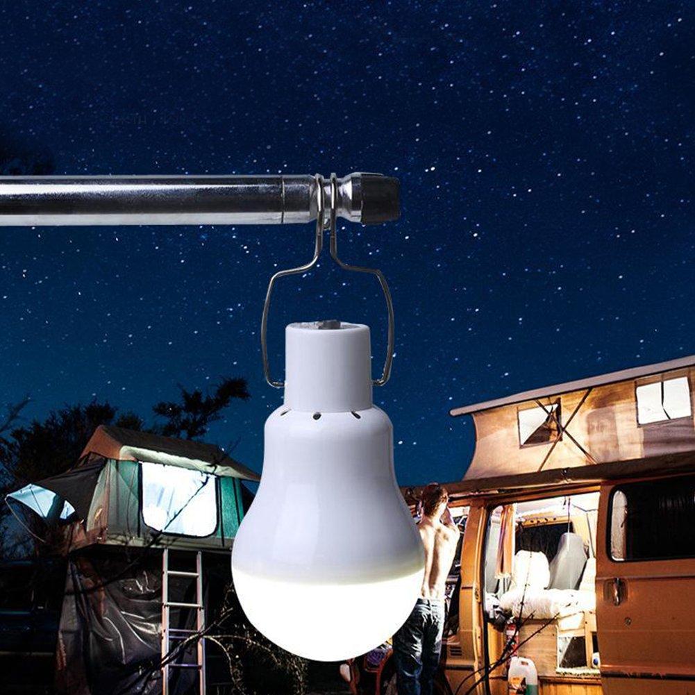Elegante Solarlampe f/ür den Au/ßenbereich LED Zeltlampe Notfalllicht with Frame mit Sensor