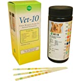 Vet - 10 10 Animal Urine Reagent Strips for Testing UTIs, Kidney and Liver Disease, Diabetes and More