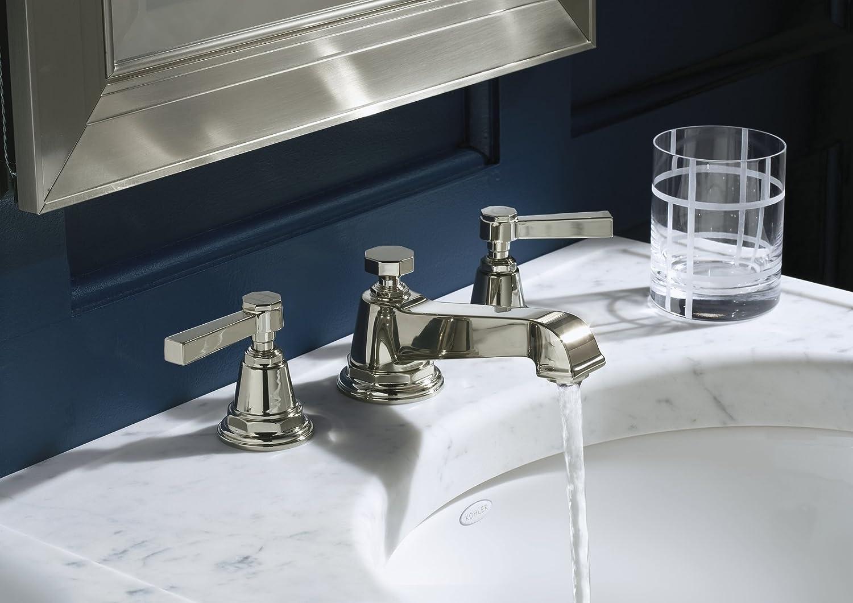 KOHLER K-13132-4A-SN Pinstripe Pure Widespread Lavatory Faucet ...