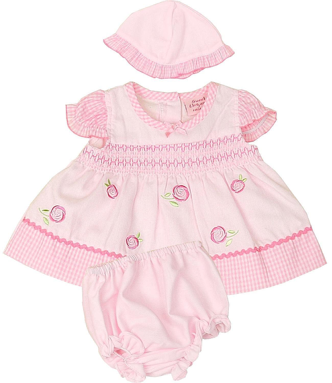 Sweet Elegance - Vestido - Floral - Manga corta - para bebé niña ...
