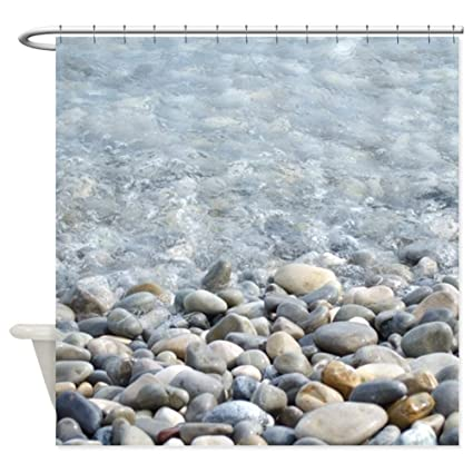 CafePress Ocean Pebbles Shower Curtain Decorative Fabric 69quot
