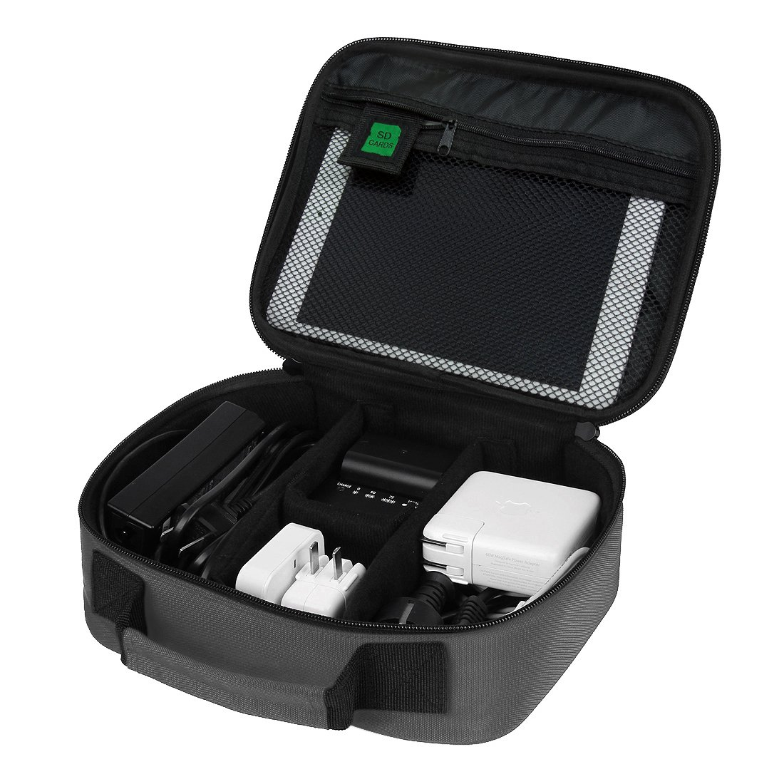 BAGSMART Electronics Travel Organizer Bag Hard Drive Case for Various USB, Phone, Cable, Charger, Dark Grey