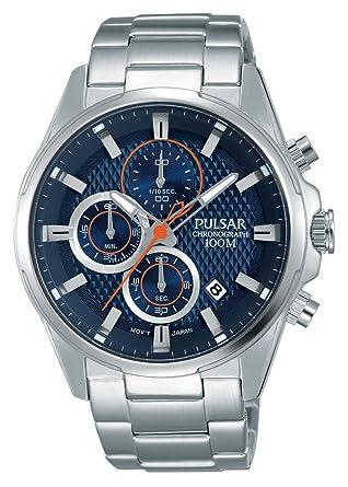 Pulsar Reloj Analógico Unisex con Correa de Chapado En Acero Inoxidable - PM3059X1: Pulsar: Amazon.es: Relojes