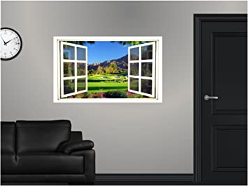 48u0026quot; Window Scape HUGE Instant View Golf Course #2 Wall Graphic Sticker  Decal Mural