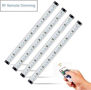4Pcs 50cm LED Kitchen Under Cabinet Counter Strip Light Case Lighting Fixture