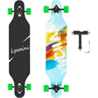 Lywaini Longboard Skateboard 41 inch Drop Through Complete Skateboard Cruiser for Cruising, Carving, Free-Style and…