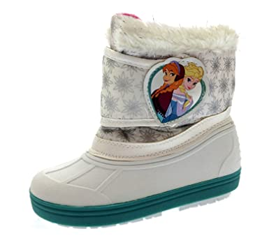 313d50ceea15 Disney Frozen Girls Snow Boots White EU 30  Amazon.co.uk  Shoes   Bags