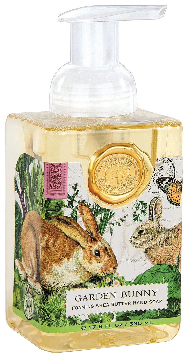 Michel Design Works Foaming Hand Soap, 17.8-Ounce, Garden Bunny