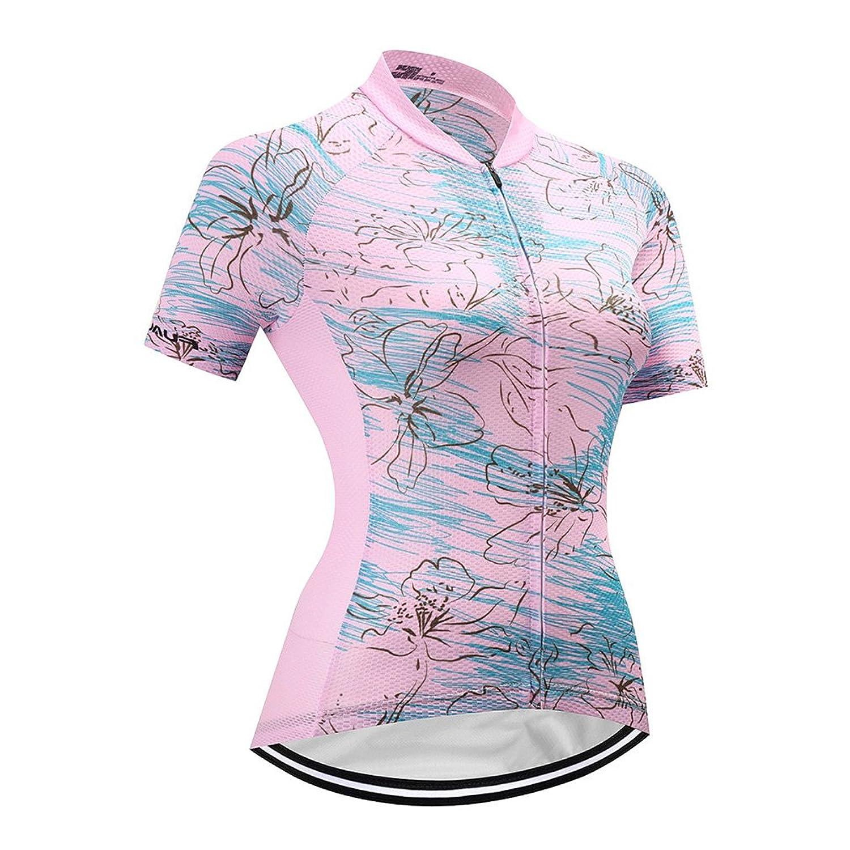 Yaloee SHIRT レディース B07BVKWTKS  Pink Jersey Medium