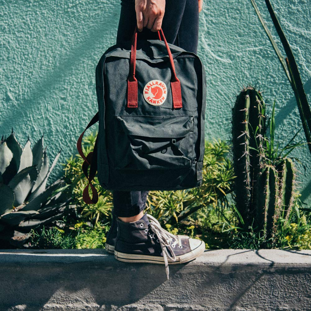 Fjallraven - Kanken Classic Backpack for Everyday, Forest Green/Ox Red by Fjallraven (Image #9)