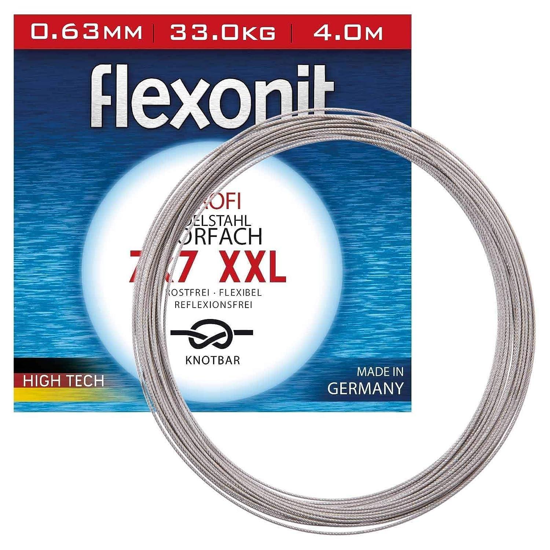 4,0m Ring Flexonit 7x7 Edelstahlvorfach XXL 1x 0,72mm//43,0Kg