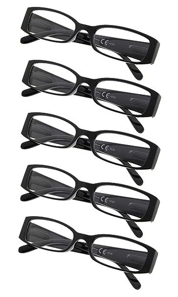 Amazon.com: Paquete de 5 gafas de lectura para mujer ...