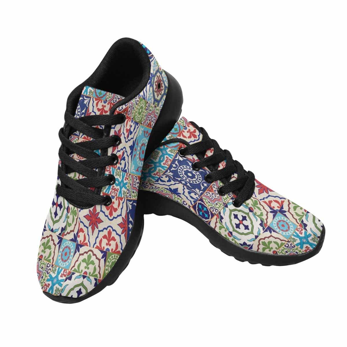 InterestPrint Women's Go Easy Walking Comfort Sports Athletic Shoes Mega Gorgeous Patchwork Pattern US 7