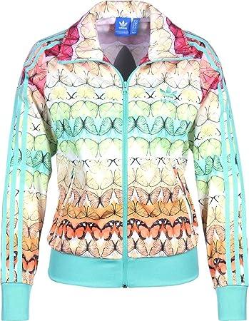 c0e87854640b6 Adidas Originals Farm Borbofresh Firebird Track Top Jacket Medium  Multi-Color