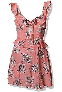 7fd90b8a0c12 Flynn Skye Women's Mimi Dress Coral Dress at Amazon Women's Clothing ...