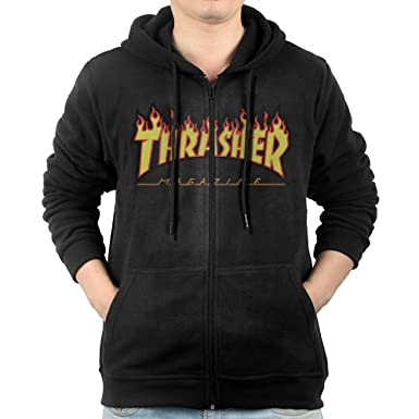 3ac723b3317b Amazon.com  Men Thrasher Magazine Skateboarding Hoodie Sweatshirt ...