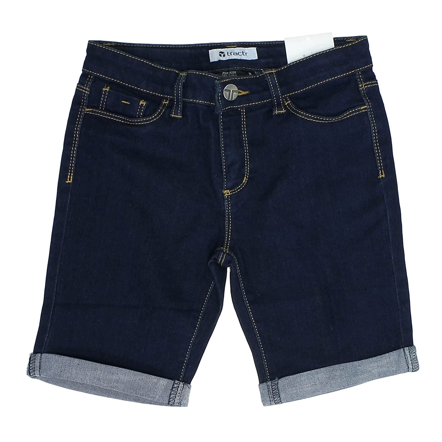 Tractr Stretch Short with Rolled Cuffs for Girls