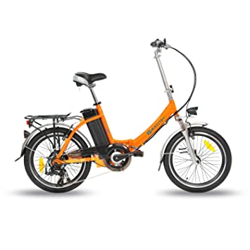 IC Electric Plume Bicicleta Plegable, Unisex Adulto, Naranja, Única